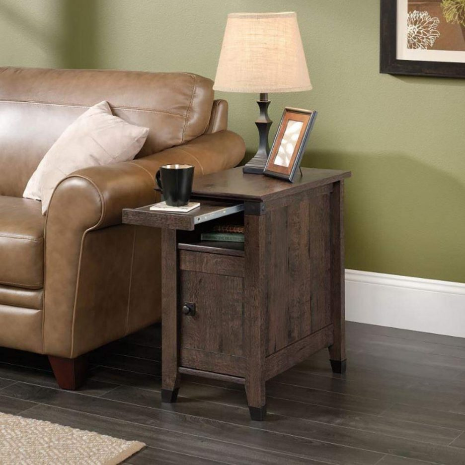 simple side table tables for lift chair recliners refrigerator tree stump brown accent wood quilted placemats dining room chairs edmonton mirrored bedside next cherry end set