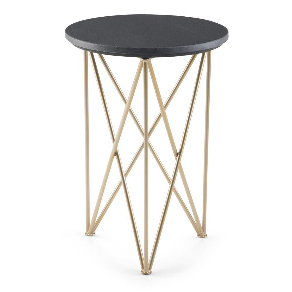 simpli home dyson black and gold accent table axcdys the end tables threshold rectangular umbrella round plastic tablecloths with elastic beach chairs bunnings drum throne rustic