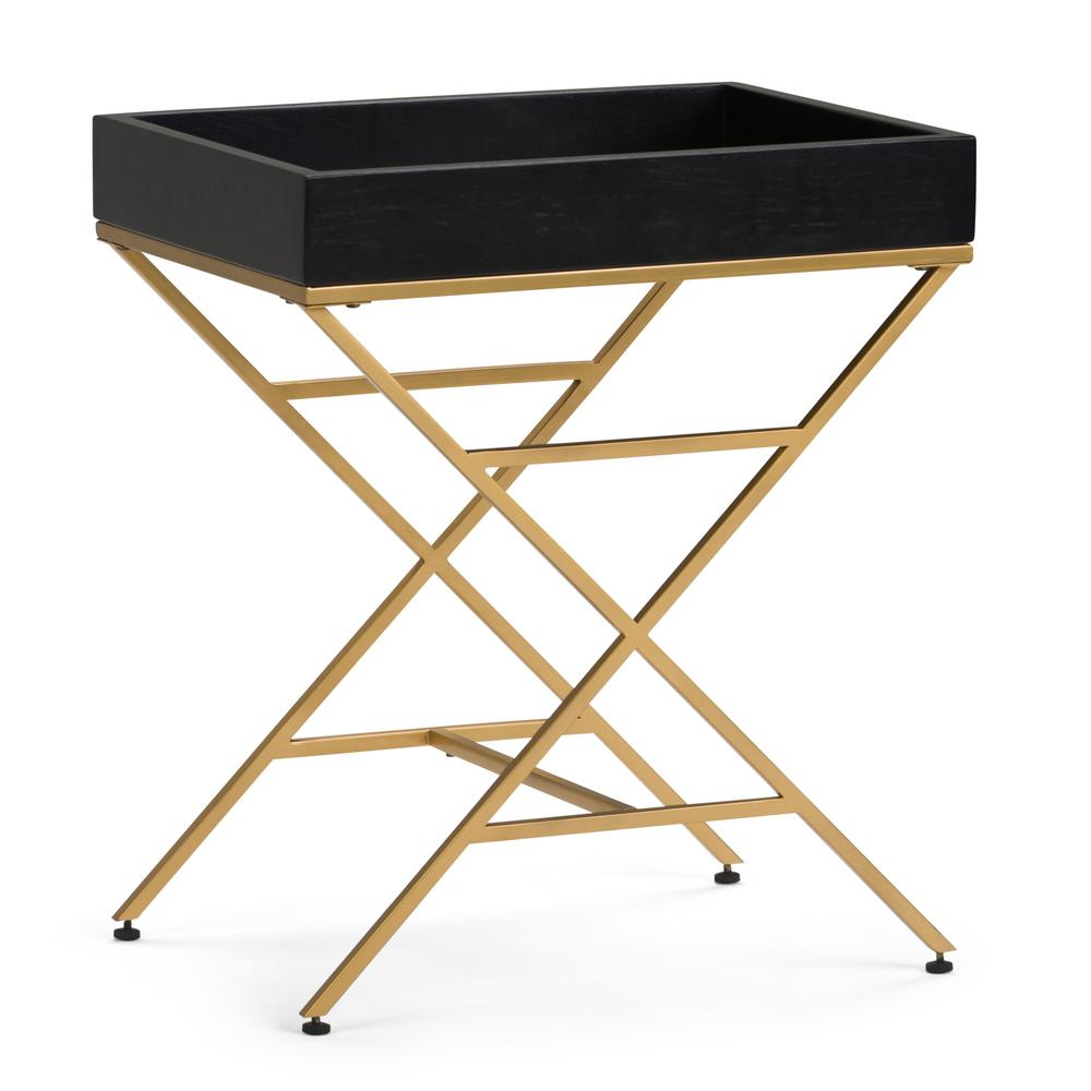 simpli home moira matte black and gold metal wood accent table end tables axcmtbl coffee cube ikea wooden decor mirimyn round grinch inflatable acrylic snack garage storage pier