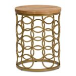simpli home sadie natural and gold metal wood accent table axcmtbl end tables bedside dressers trestle with chairs bath beyond gift registry inch round tablecloth decorative 150x150