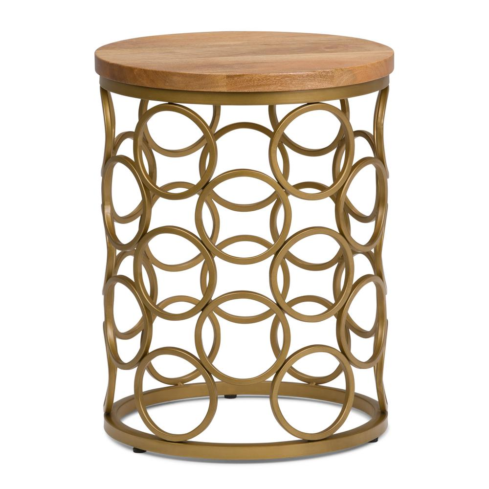 simpli home sadie natural and gold metal wood accent table axcmtbl end tables pottery barn breakfast craft target round side tall narrow lamp base dining living room console
