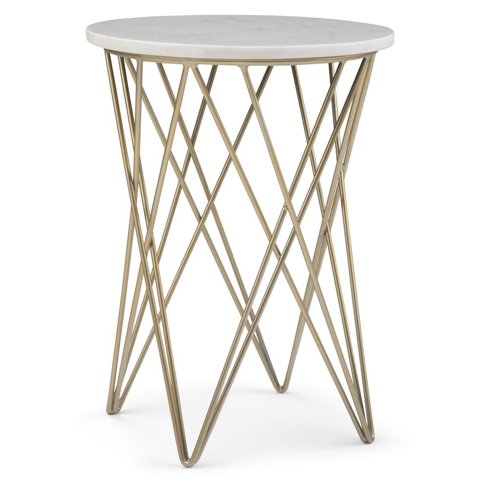 simpli home sandy white and gold accent table axcsan the end tables metal west elm couch outdoor garden furniture vintage brass glass coffee small bedroom chairs shower curtains