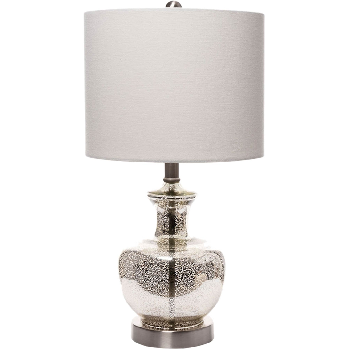 simply perfect silver mercury glass accent lamp table lamps home patio side pottery barn black coffee round drum folding nesting tables over the couch tool cabinet high bar and
