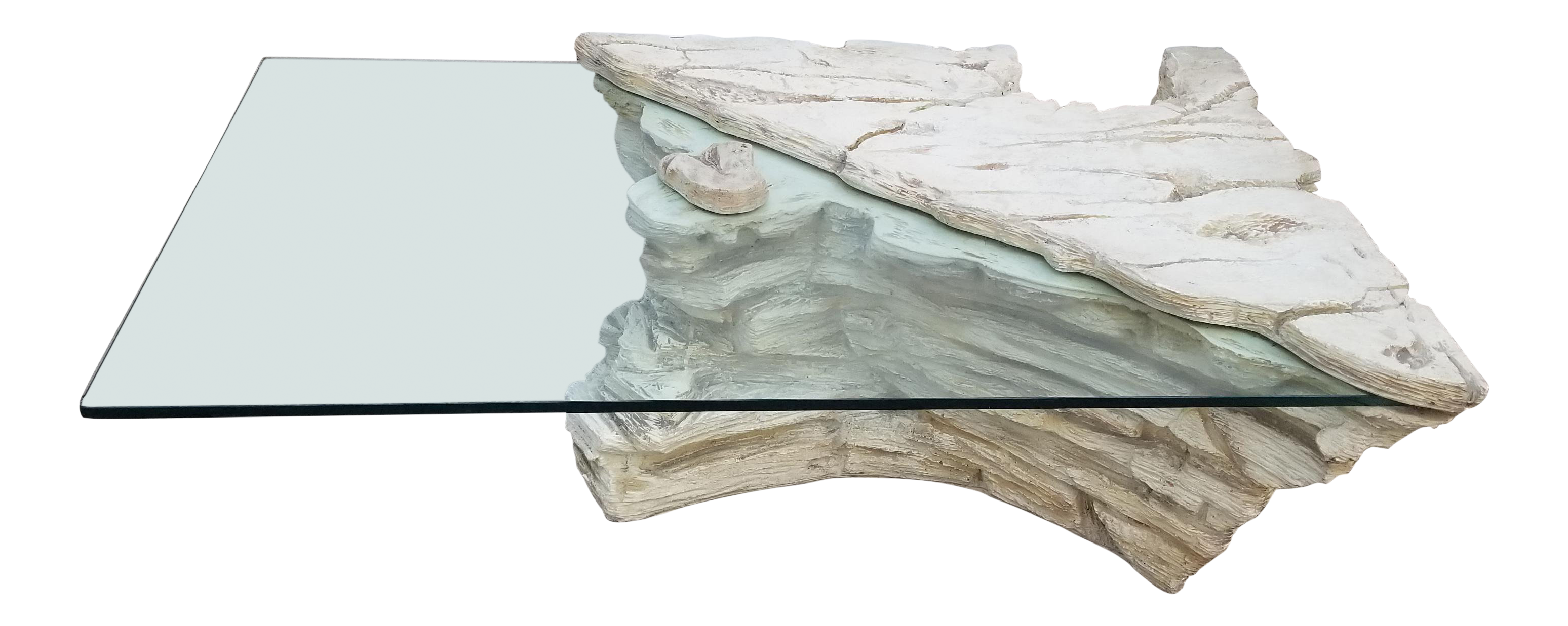 sirmos style plaster rock quarry coffee table chairish accent large console cabinet placemats colored glass farm bath beyond gift registry black nest tables ikea front door
