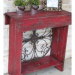 skinny console table farmhouse red diy projects metal accent colorful wood pottery barn leather sofa narrow behind couch glass top side led battery lights rattan mid century 150x150