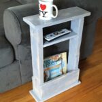 skinny side table mini apartment decor small space accent with magazine rack sofa gift idea coffee dorm end newlovedecor unpainted furniture patio umbrella bunnings chest for 150x150