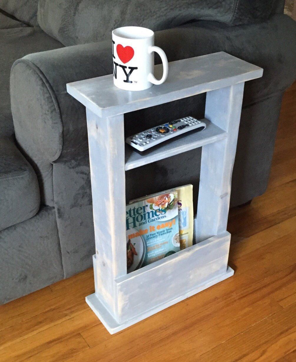 skinny side table mini apartment decor small space thin accent sofa gift idea coffee magazine rack dorm end newlovedecor weathered white tables mid century modern dining set