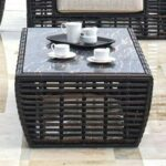 skyline design topaz woven synthetic wicker aluminum glass products color top outdoor side table topazcoffee round tile sofa ikea large coffee grey console wood end small 150x150
