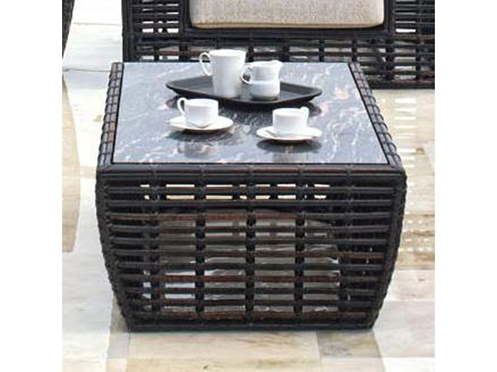skyline design topaz woven synthetic wicker aluminum glass products color top outdoor side table topazcoffee round tile sofa ikea large coffee grey console wood end small