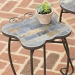 slate butterfly ladybug and turtle outdoor accent tables with iron metal table base high end jcpenney bedroom furniture square card tablecloth off white coffee mosaic outside 150x150