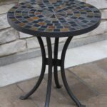 slate mosaic accent table for decks patios and gardens cobble stone outdoor chestnut side with storage baskets floor lamp set reclaimed wood coffee dale home crystal antique brass 150x150