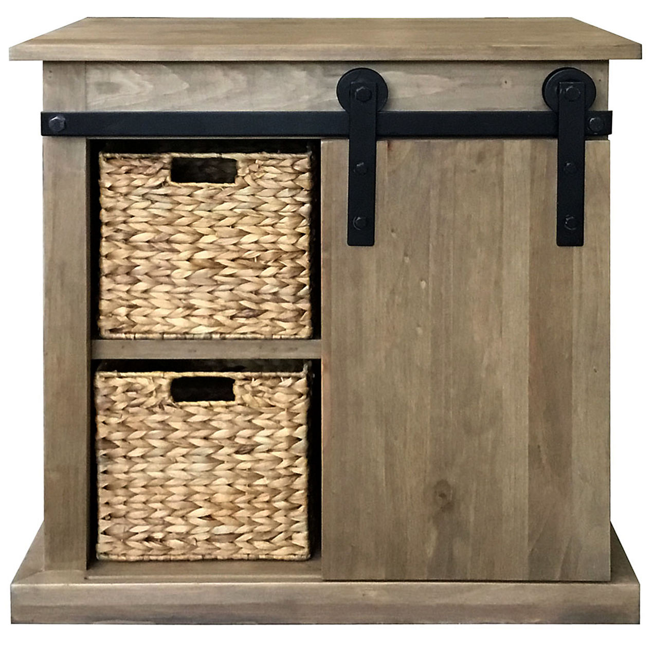 sliding barn door cabinet with basket home accent table hopkins furniture side design for drawing room cherry wood corner stand mirror best coffee designs painted tables living