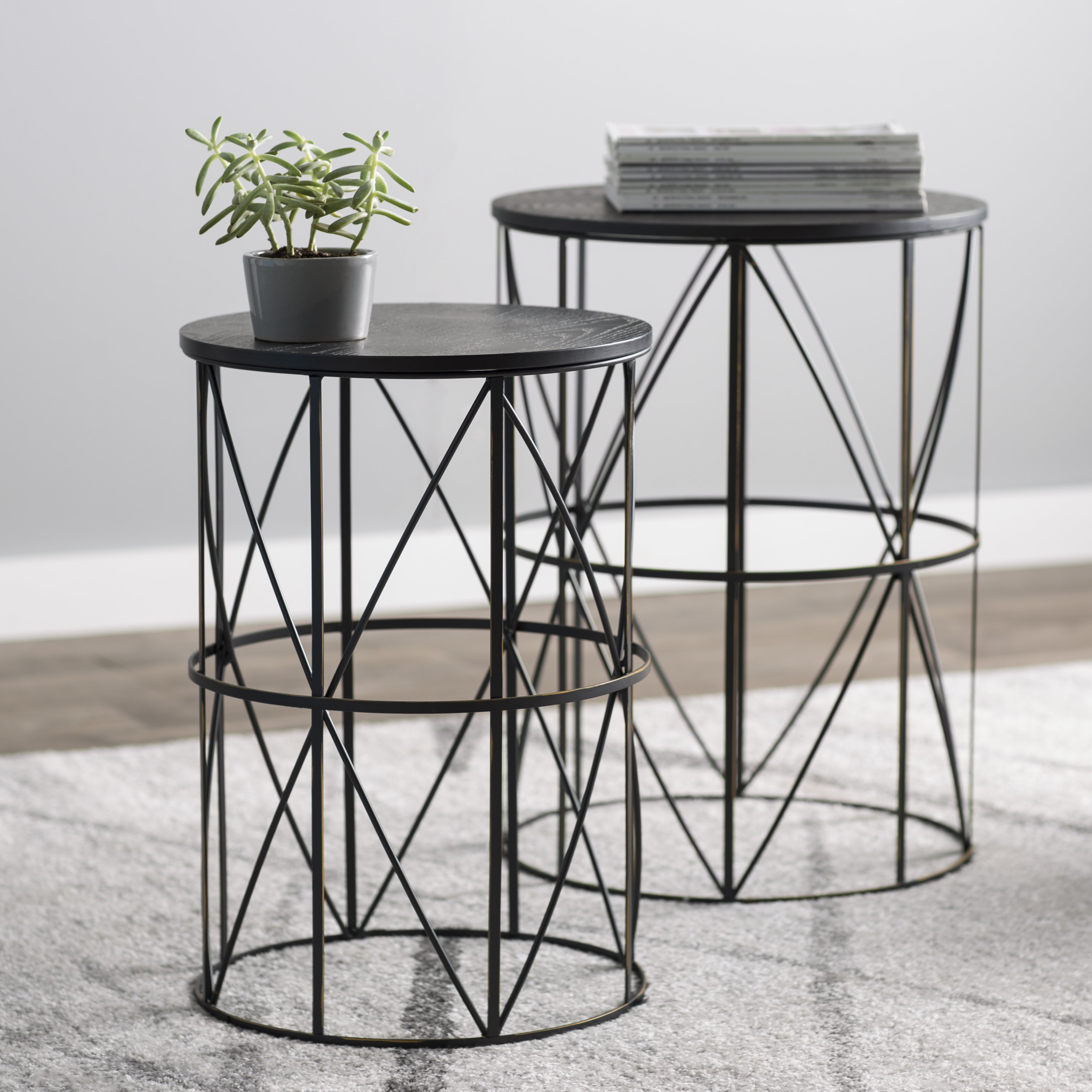 slifer piece nesting tables joss main patchen accent end table bronze patio side with umbrella hole collections glass for depot cabinet desk walnut coffee target wheels bedding