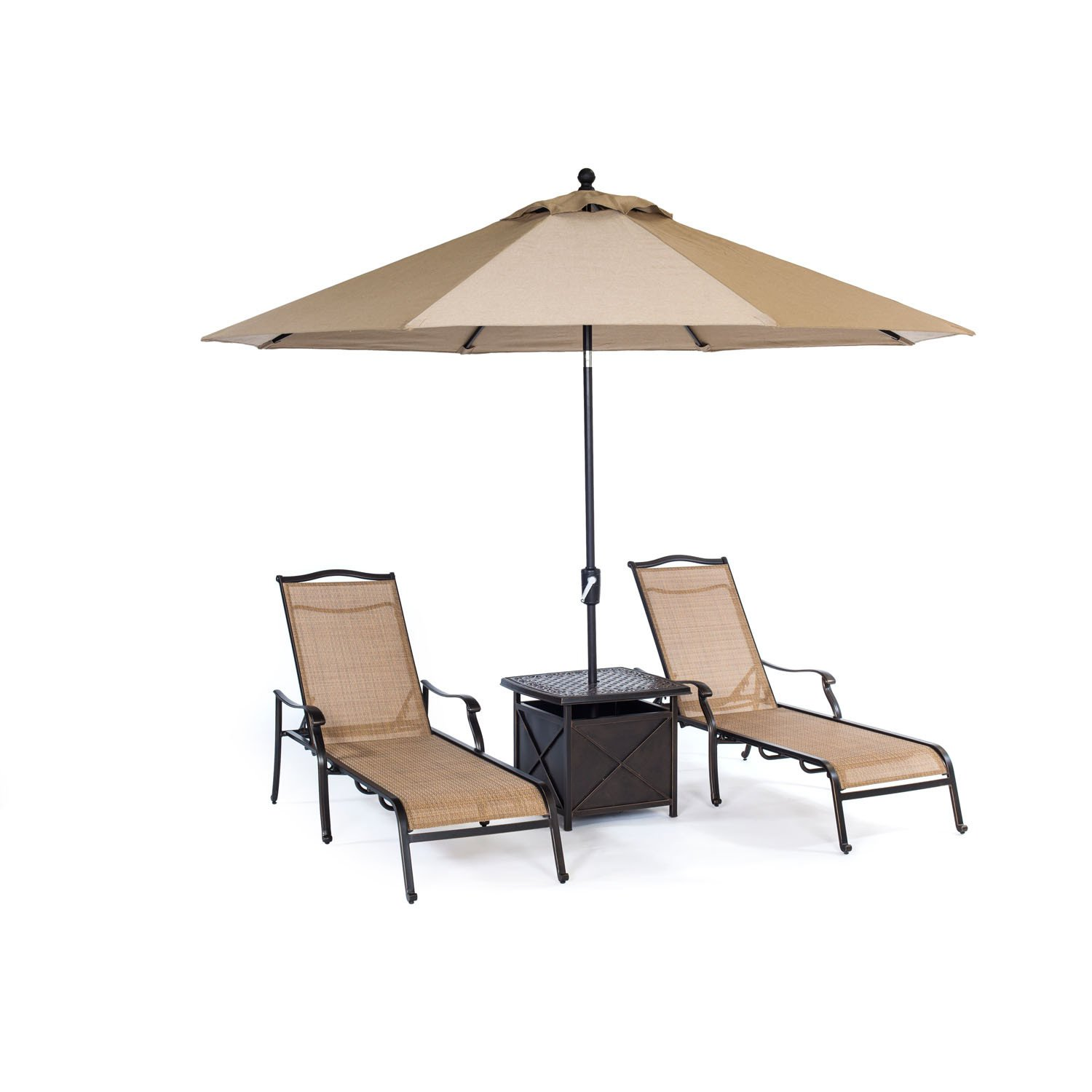 sling chaise chair set chairs umbrella side outdoor table aluminum tan metal threshold bar cover inch wide tablecloths teal bedroom farm style tulip marble simple console couch