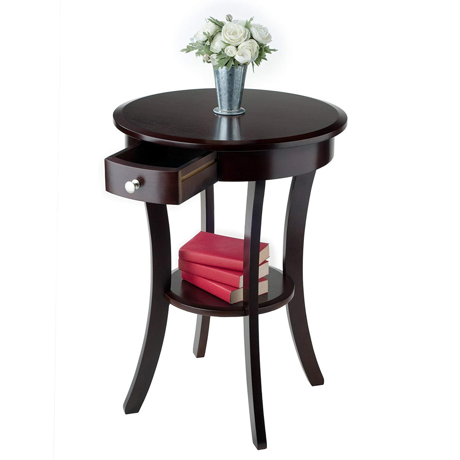 small accent table for places round cappuccino wjml winsome wood cassie with glass top finish premium night stand drawer kitchen dining home furnishings edmonton shoe drawing end