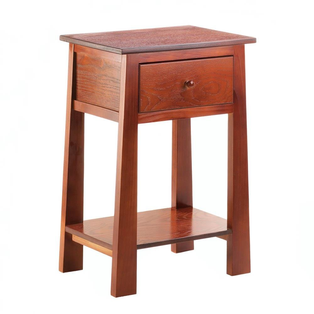 small accent table modern tables living room with shelf and wood side home accents wooden white leather trunk pottery barn display coffee elephant figurines dining chairs wicker