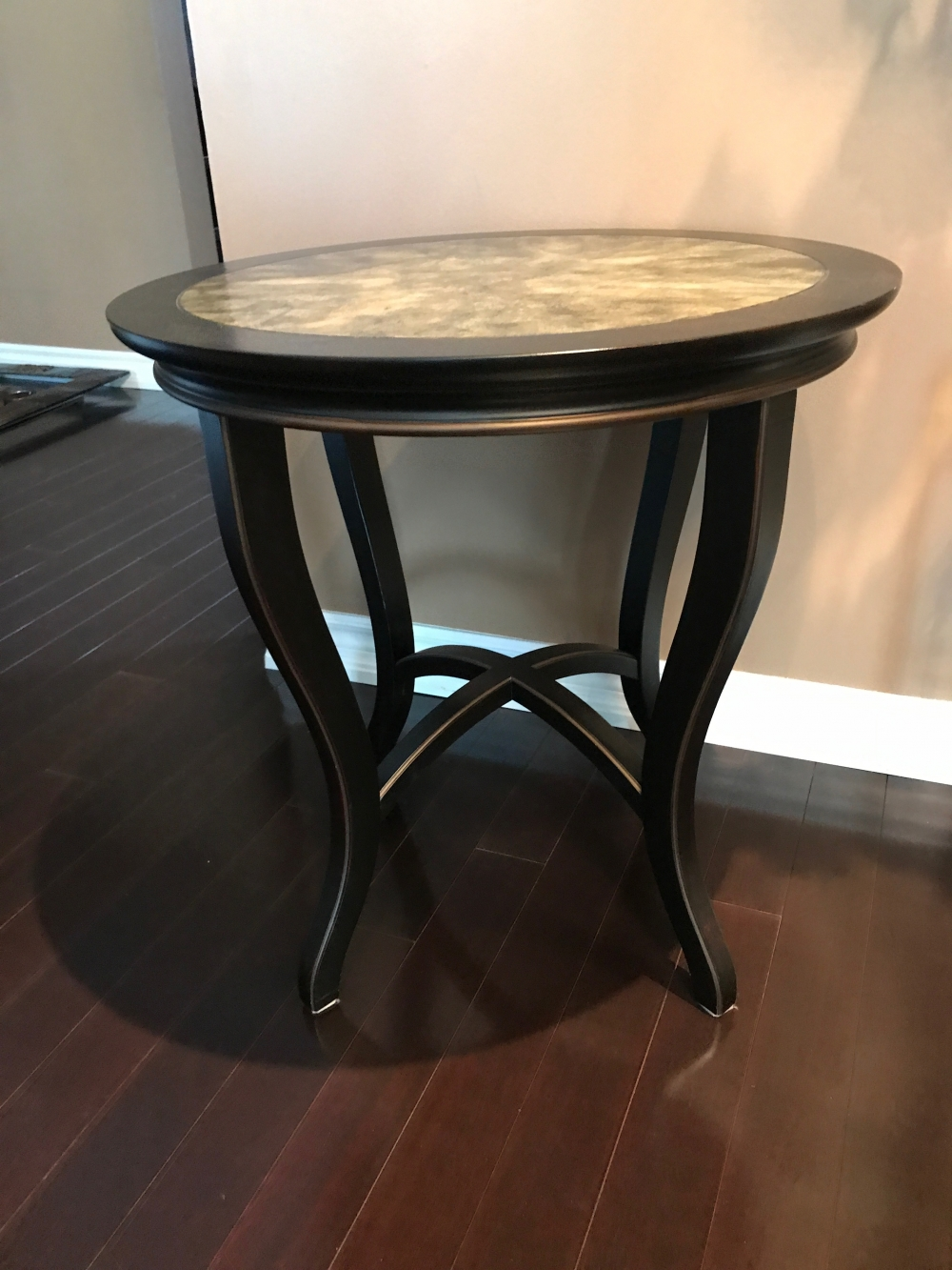 small accent table nesting tables furniture antique glass side white and silver coffee round occasional gold metal drum end mirrored cocktail black brass ethan allen vintage lamps