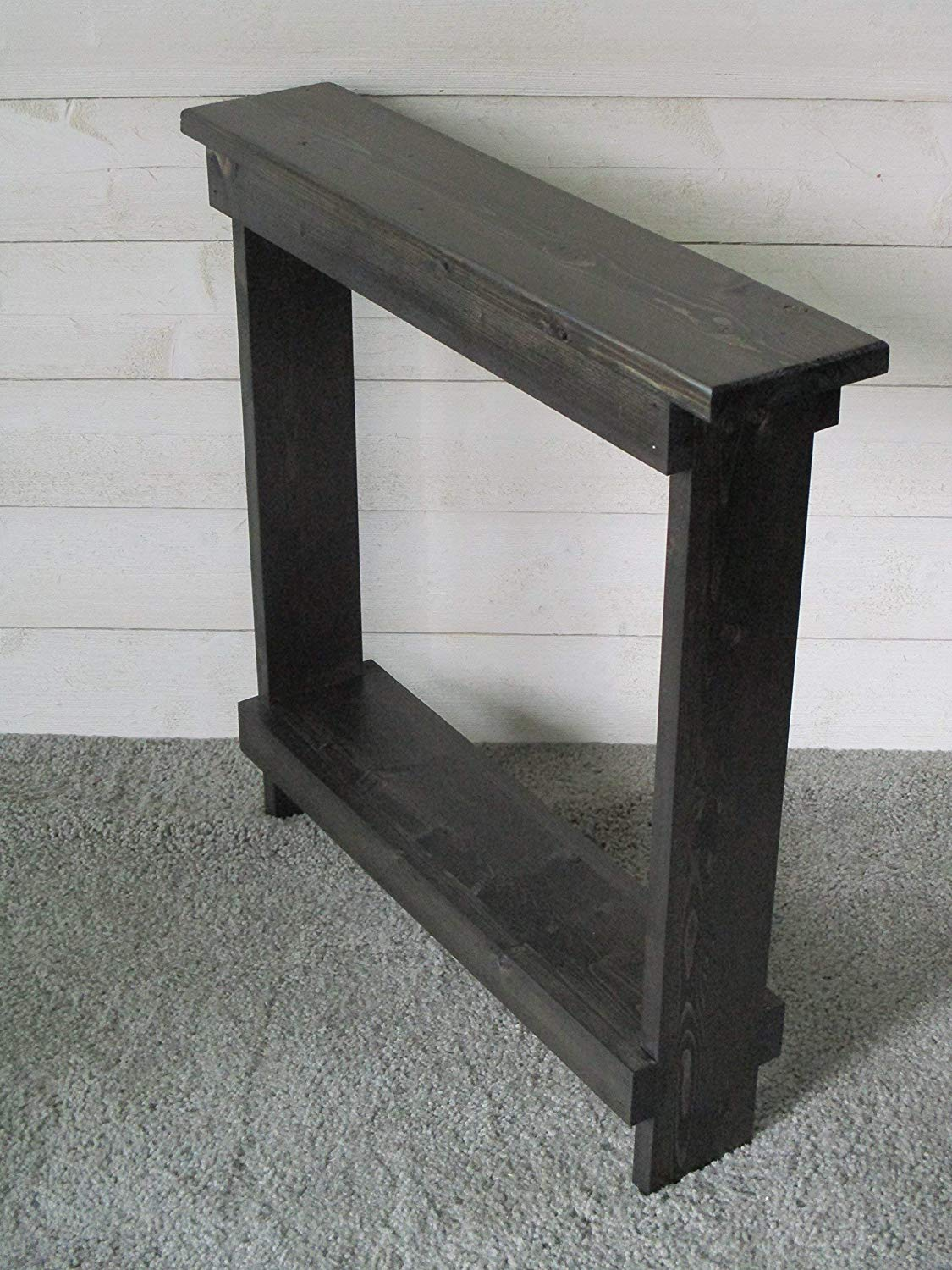small accent table skinny side narrow end entryway rustic wood hall mainstays marble black rattan outdoor coffee wrought iron and chairs affordable patio sets foldable inch linon