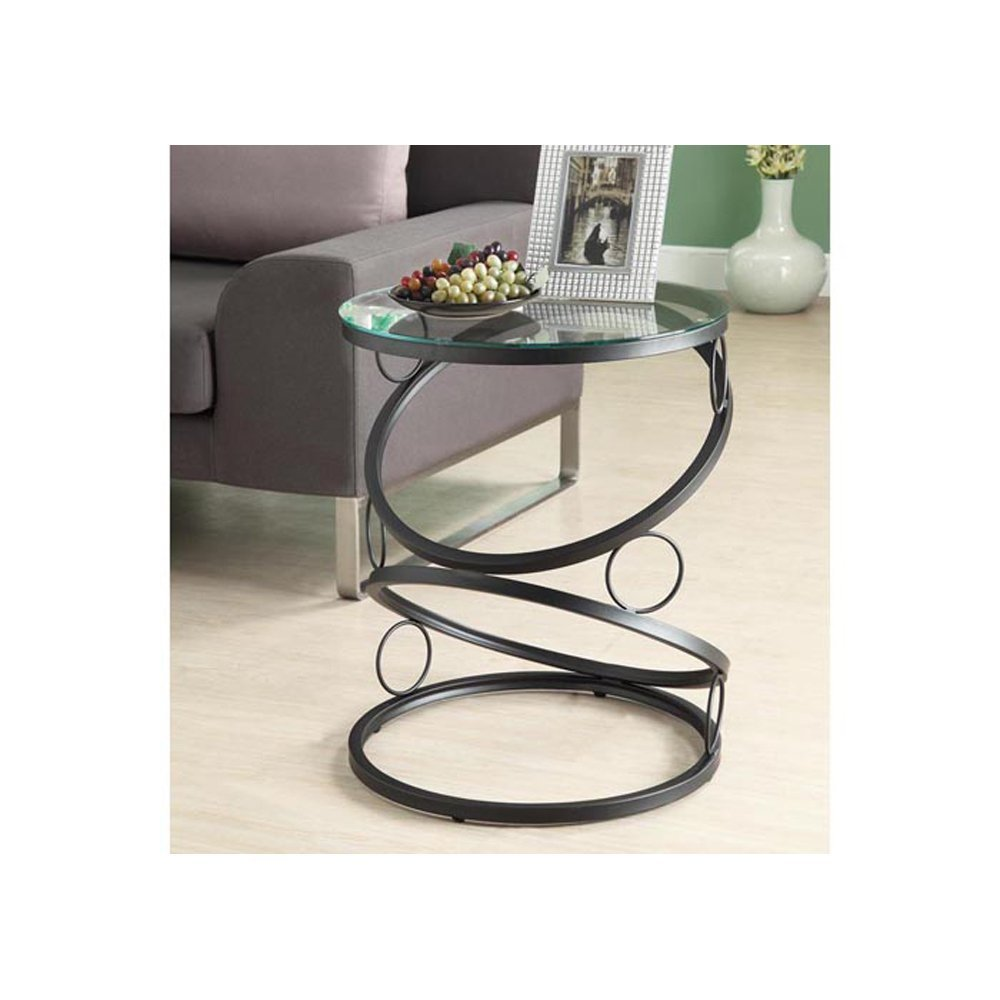 small black accent table find round metal get quotations monarch specialties with tempered glass matte acrylic sofa marble coffee toronto grohe europlus uttermost wall decor