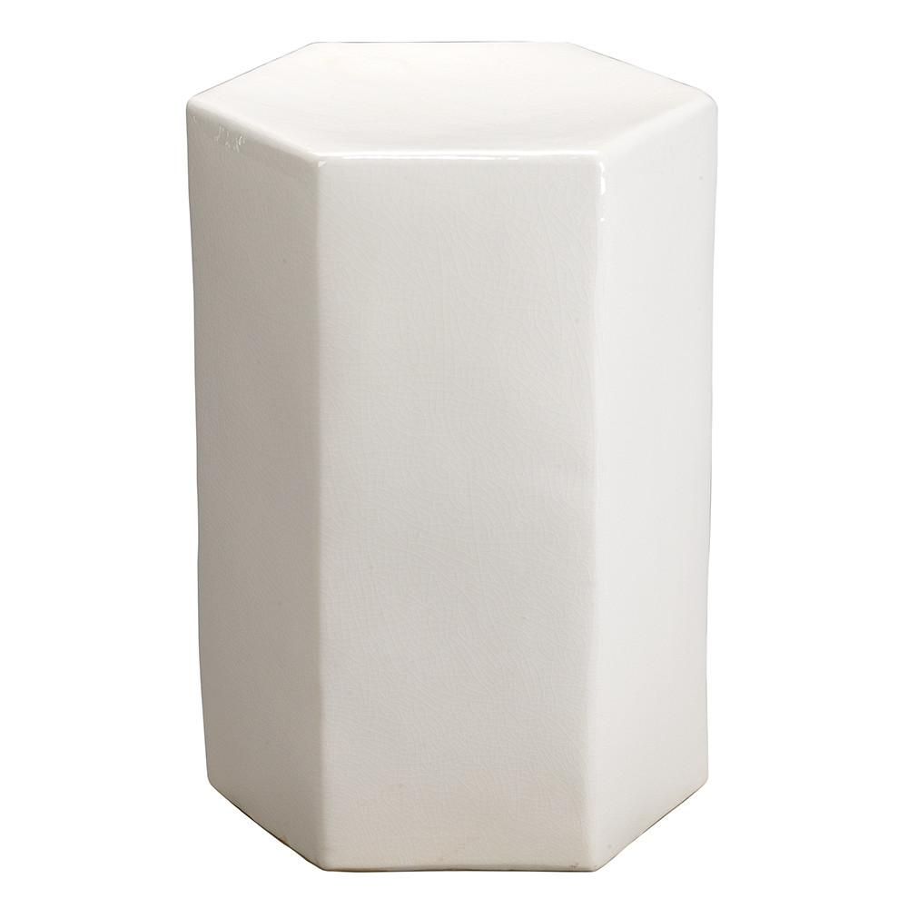 small ceramic hexagonal accent table white smwh folding patio set gold decorations pottery barn kids wilcox furniture british designers ikea metal coffee simple home decoration