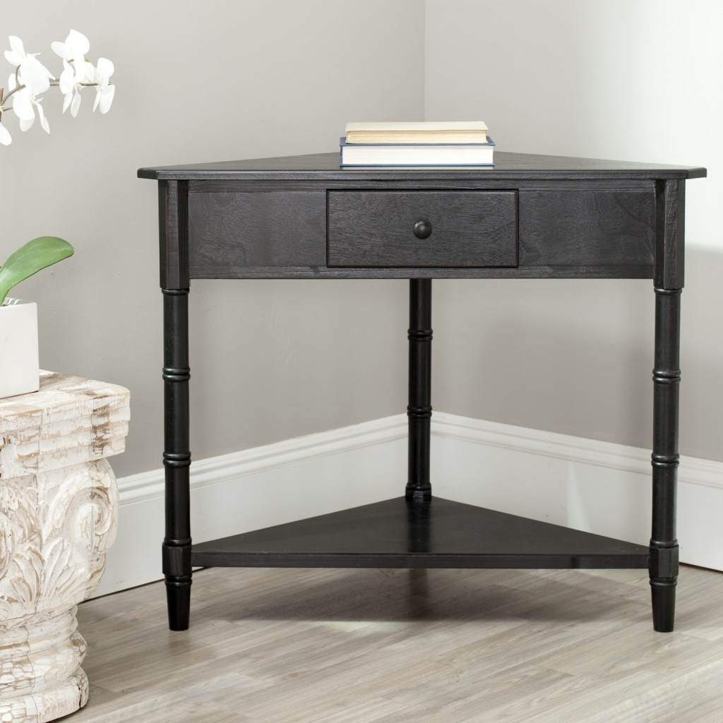 small corner accent table with drawer safavieh gomez black furniture design awesome using and not gray pottery barn rustic wood frame fancy bedside tables home decorators catalog