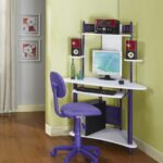 small corner desk ikea favorite private for workspace mini and colorful with under sliding panel keyboard cpu monitor set sweet purple chair wheels wood finish flooring accent 150x150