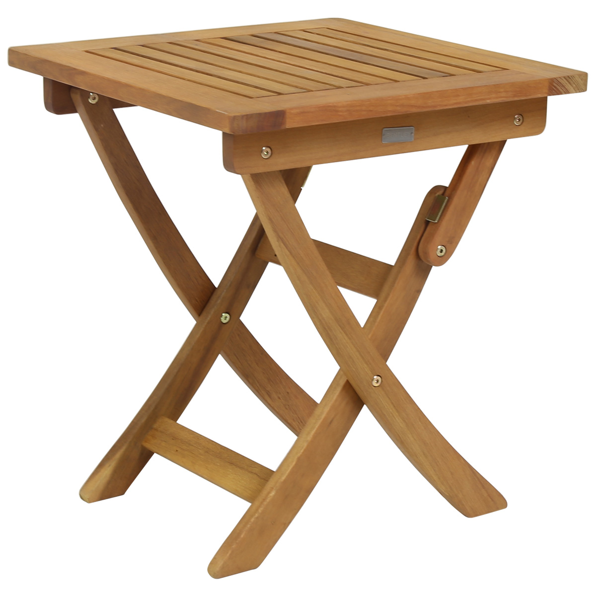 small foldable wooden garden side table charles bentley outdoor wood piece setting bunnings dining room furniture mat for ethan allen nesting tables big umbrella coloured glass