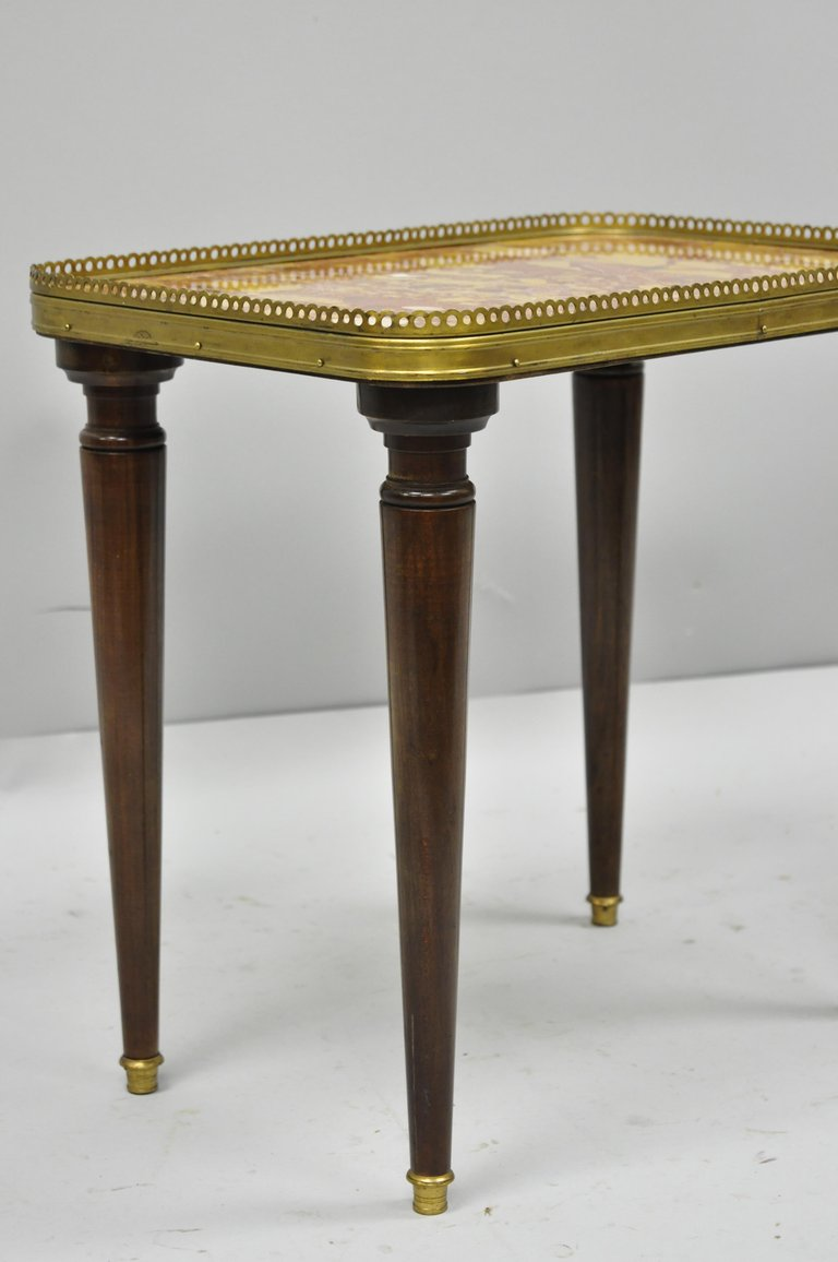 small french louis xvi directoire style rouge marble top accent master table drink side for bassett dining chairs black legs and end stand outdoor corner garden bench seat