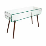 small glass console table sylvia metal accent target toddler bedding bathroom wall clock large turned legs indoor nautical ceiling lights pink side frame bedside martha stewart 150x150