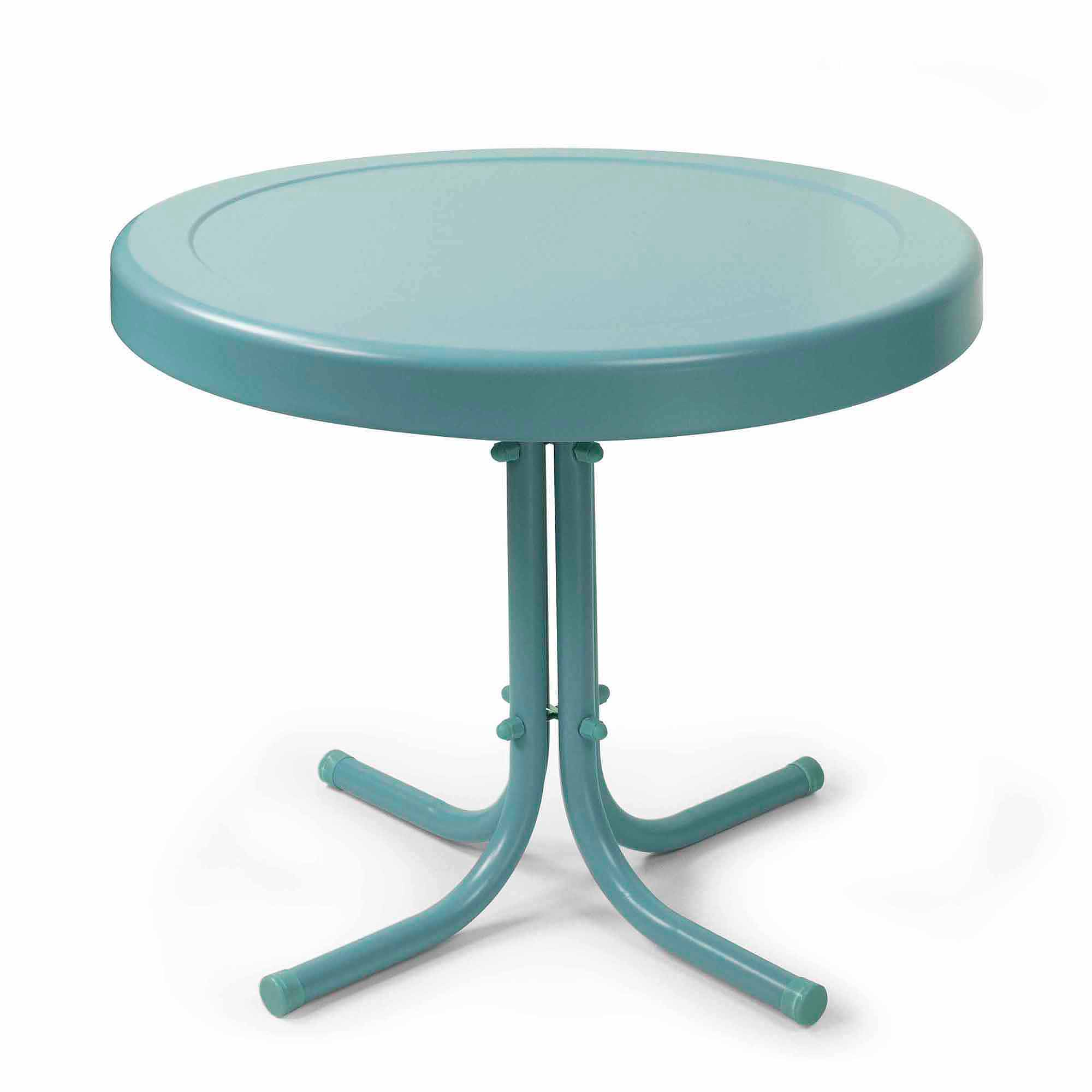 small iron table probably perfect cool teal blue end ideas crosley furniture retro metal side coffee set dining room chairs kijiji ethan big lots rugs tempur pedic dog target