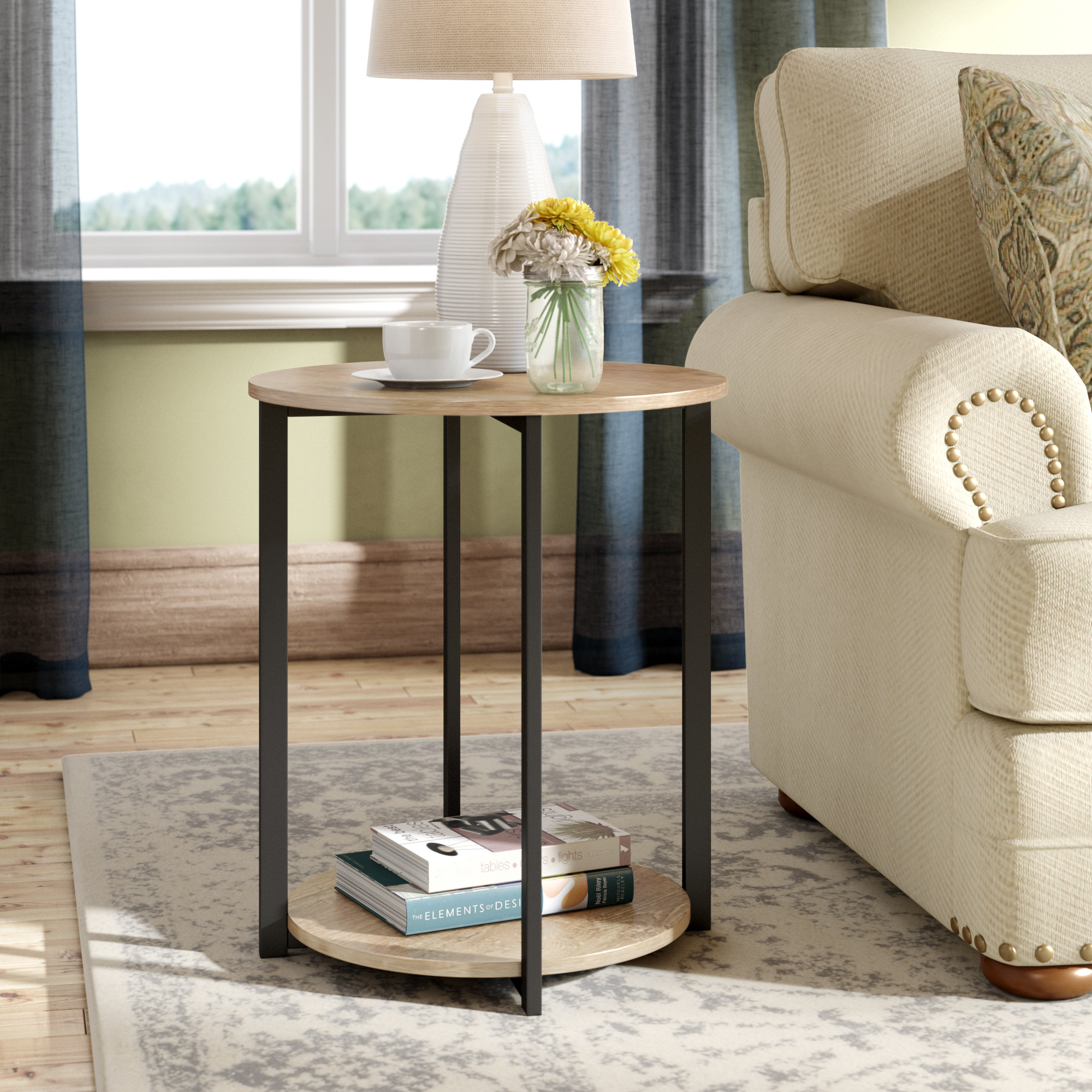 small low side table ryanda end room essentials mixed material accent tiffany shades modern floor lamp with attached patio and chairs foot long console large silver lamps windham