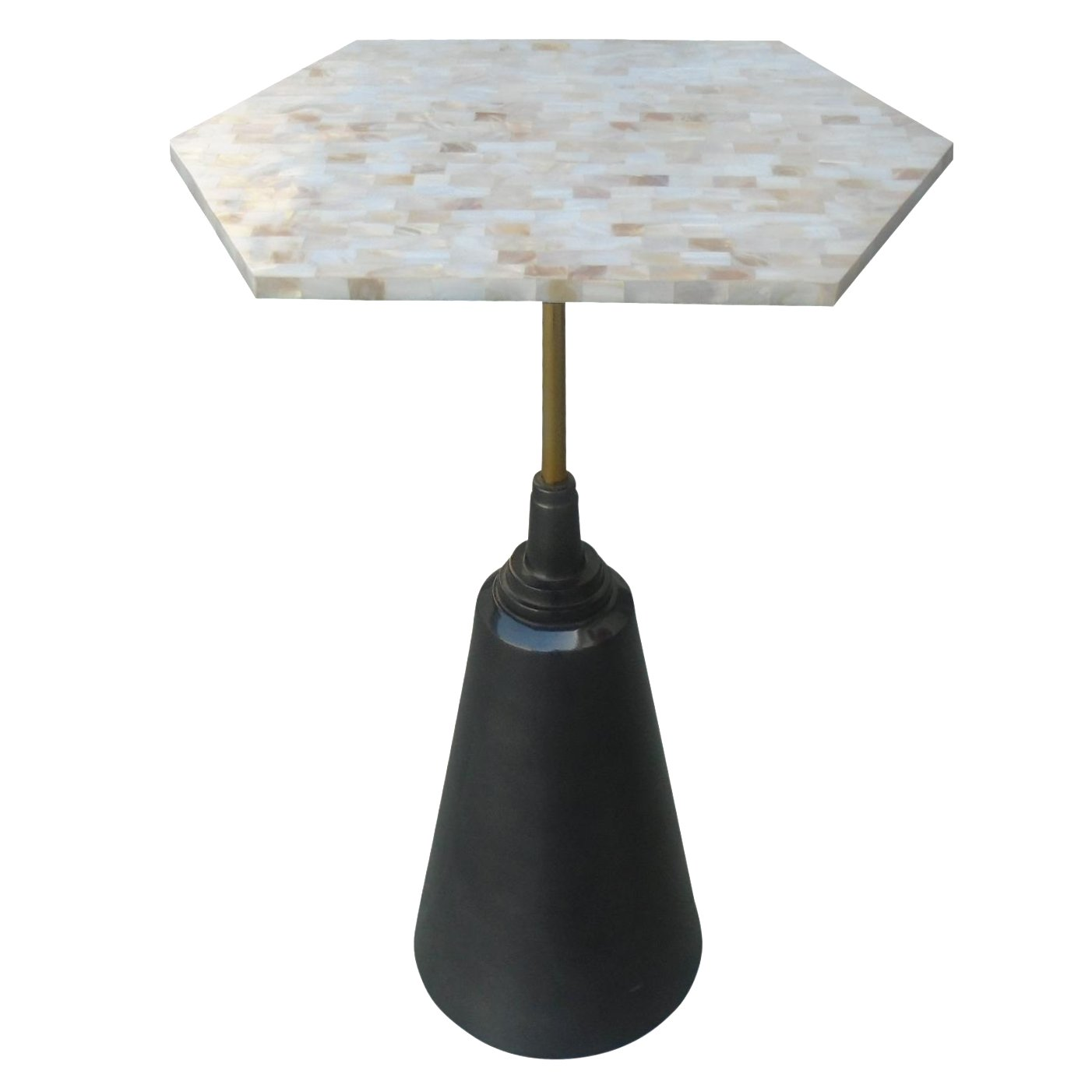 small metal side end accent table with mother pearl top living room outdoor umbrella chairish square tablecloths granite cocktail cherry wood tables white wicker glass dining sets