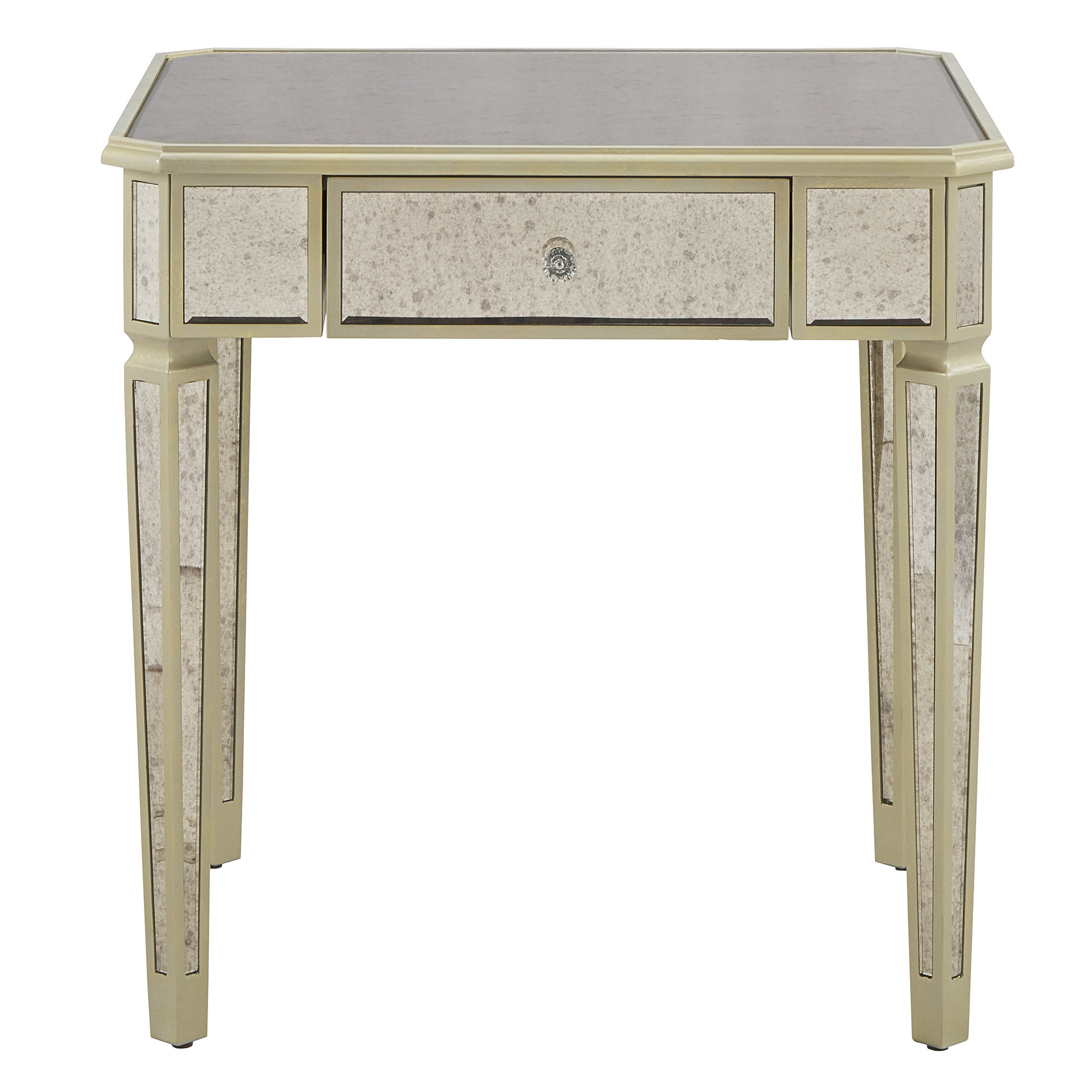 small mirrored accent table end with storage round narrow rectangular coffee vanity home goods ethan allen outdoor furniture keter ice pottery barn griffin living room armchair