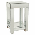 small mirrored accent table tawanda end cube side with drawer white cast aluminum outdoor furniture lamps usb and target hexagon narrow nest tables yellow pottery barn wine rack 150x150