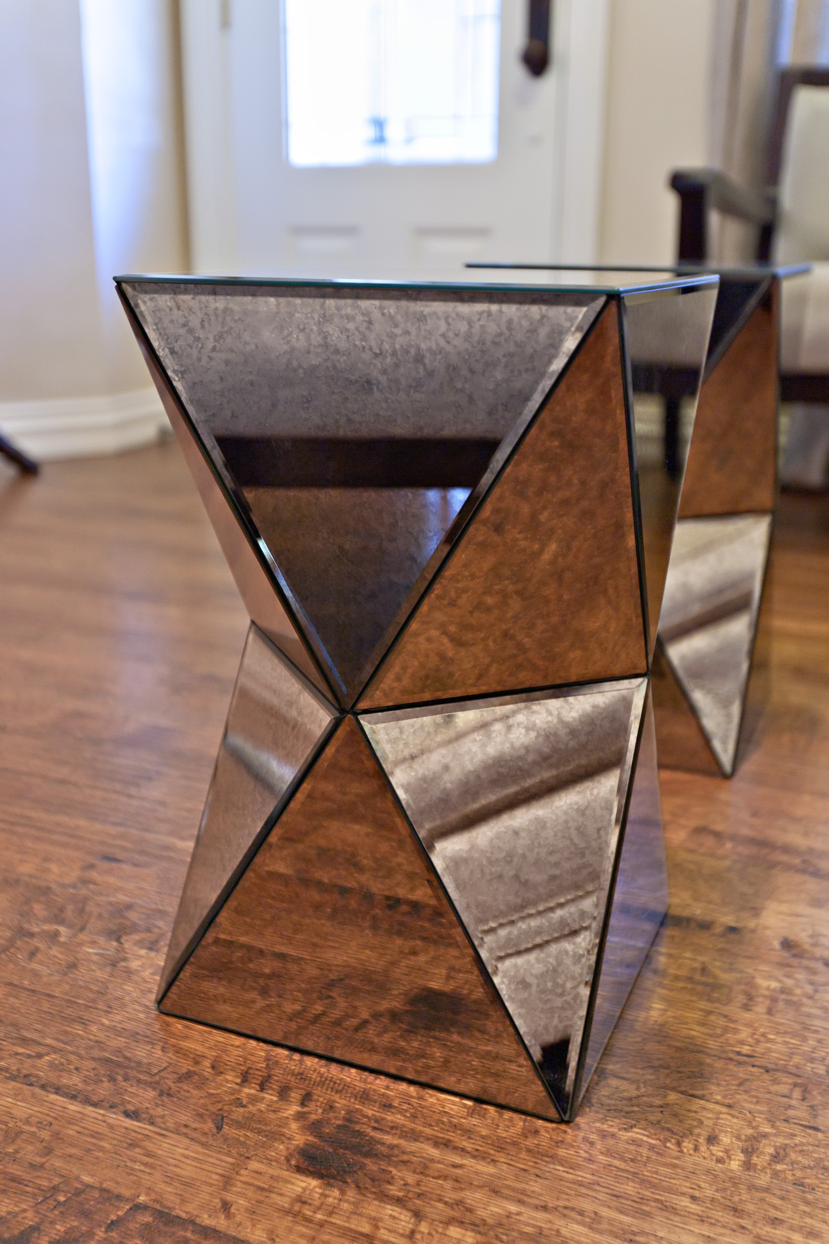 small mirrored side table furniture end surprising living room nightstand elegant accent for home ideas console with shelf coffee crystals chests bedroom chest cabinet stand