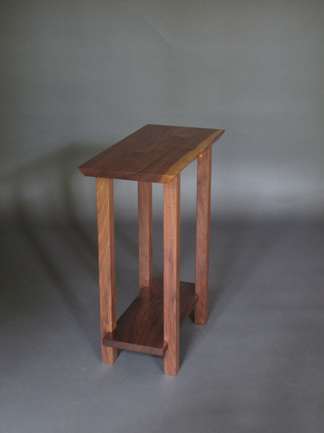 small narrow nightstand modern wood furniture live edge very accent table side end antique wine drum west elm bedroom dining room tables with rack underneath for entrance foyer