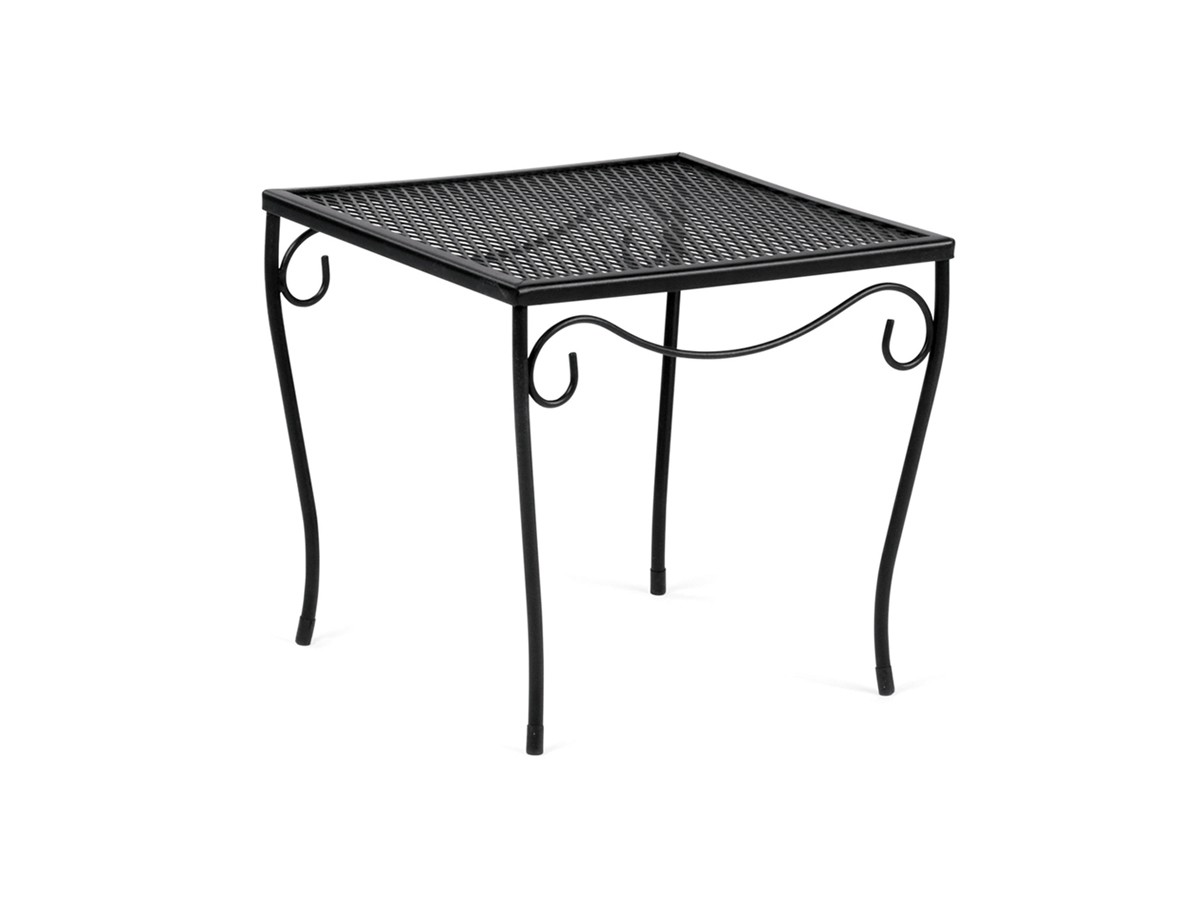 small patio side tables modern style and woodard wrought iron metal accent console table white end with drawer round coffee yellow decorative accessories frame wood top legs mint