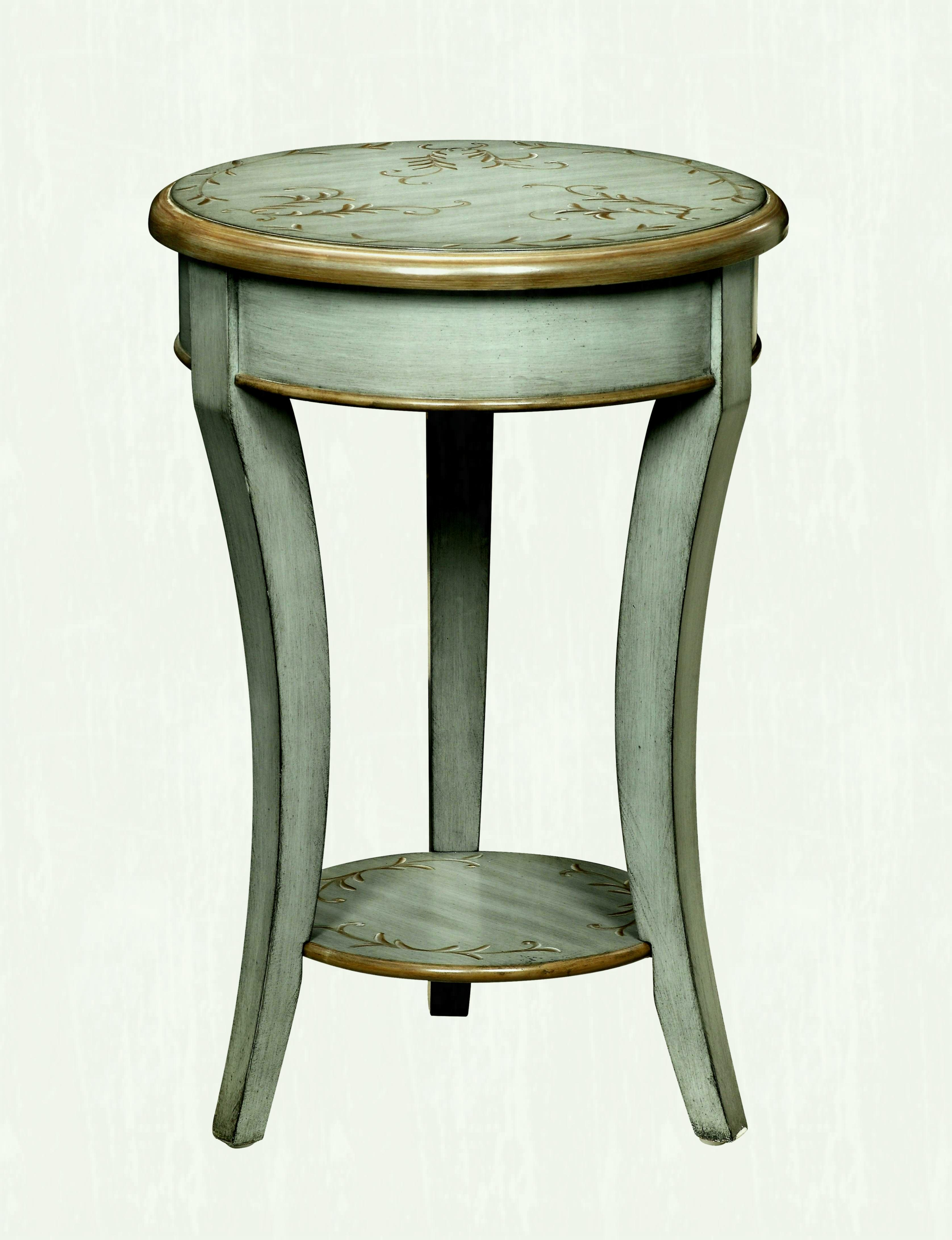 small round accent table for the bedroom lovely wood tablecloth stands inch deep console distressed tall with storage antique wedge side blue ceramic stool pottery barn rustic
