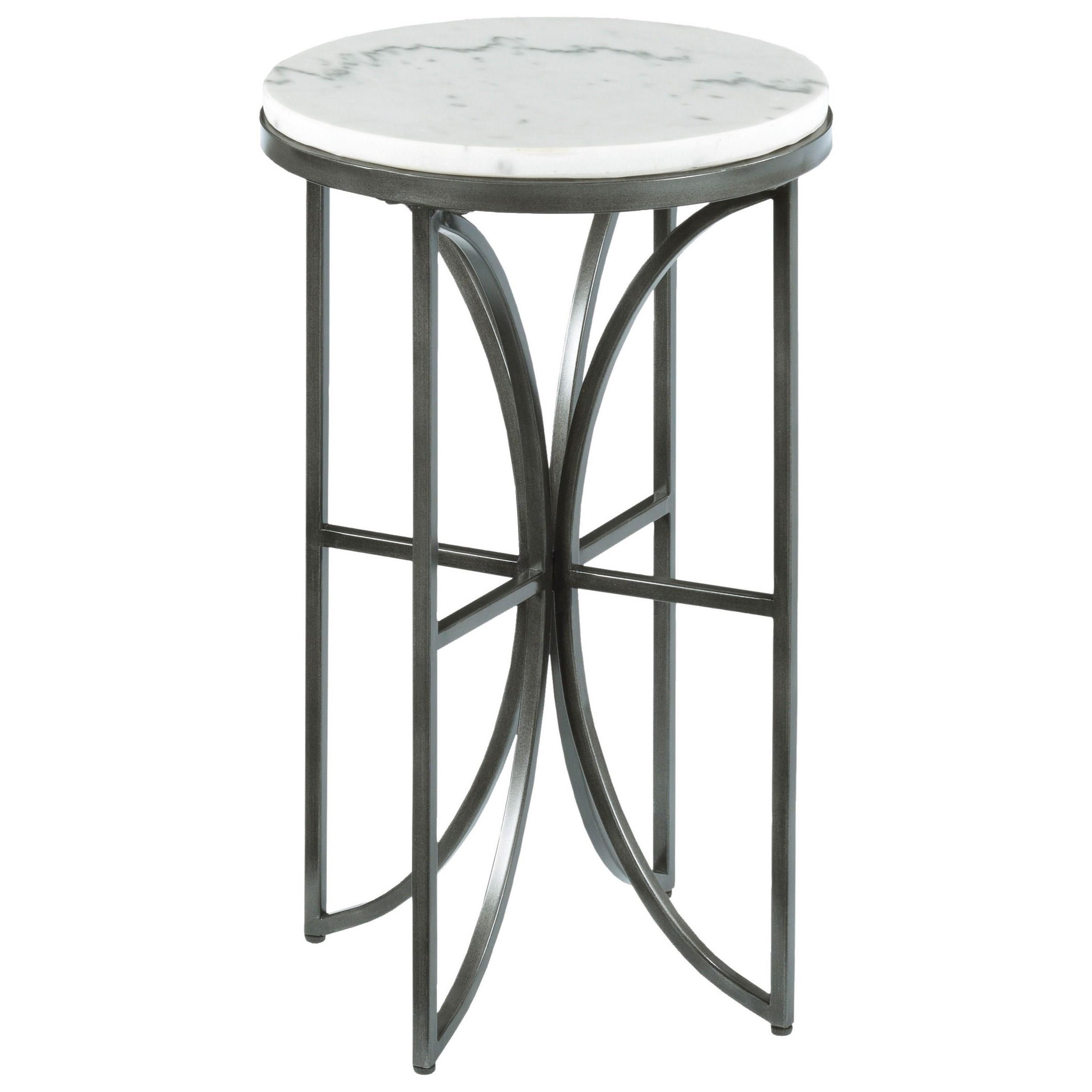 small round accent table with marble top hammary wolf and products color impact white screen porch furniture wood trestle dining stand cream coffee ethan allen room sets glass