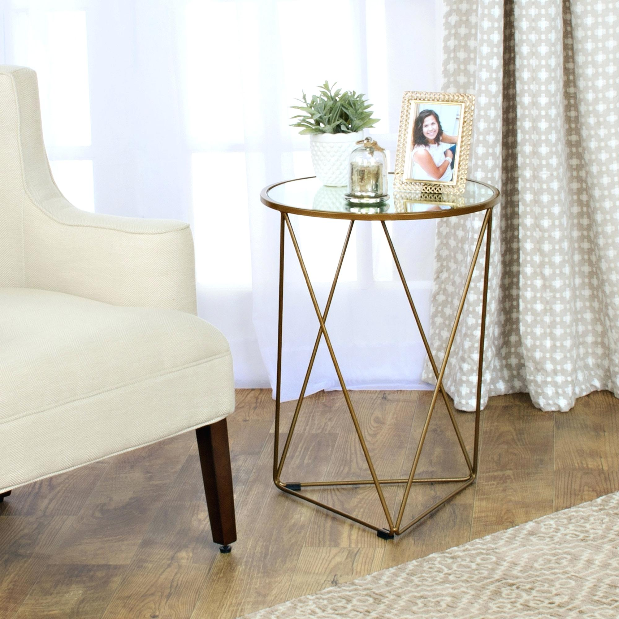 small round accent tables target white for living room asnishing corner table with drawer glass and metal essentials end console ikea silver coffee mirror pier one mirrored west