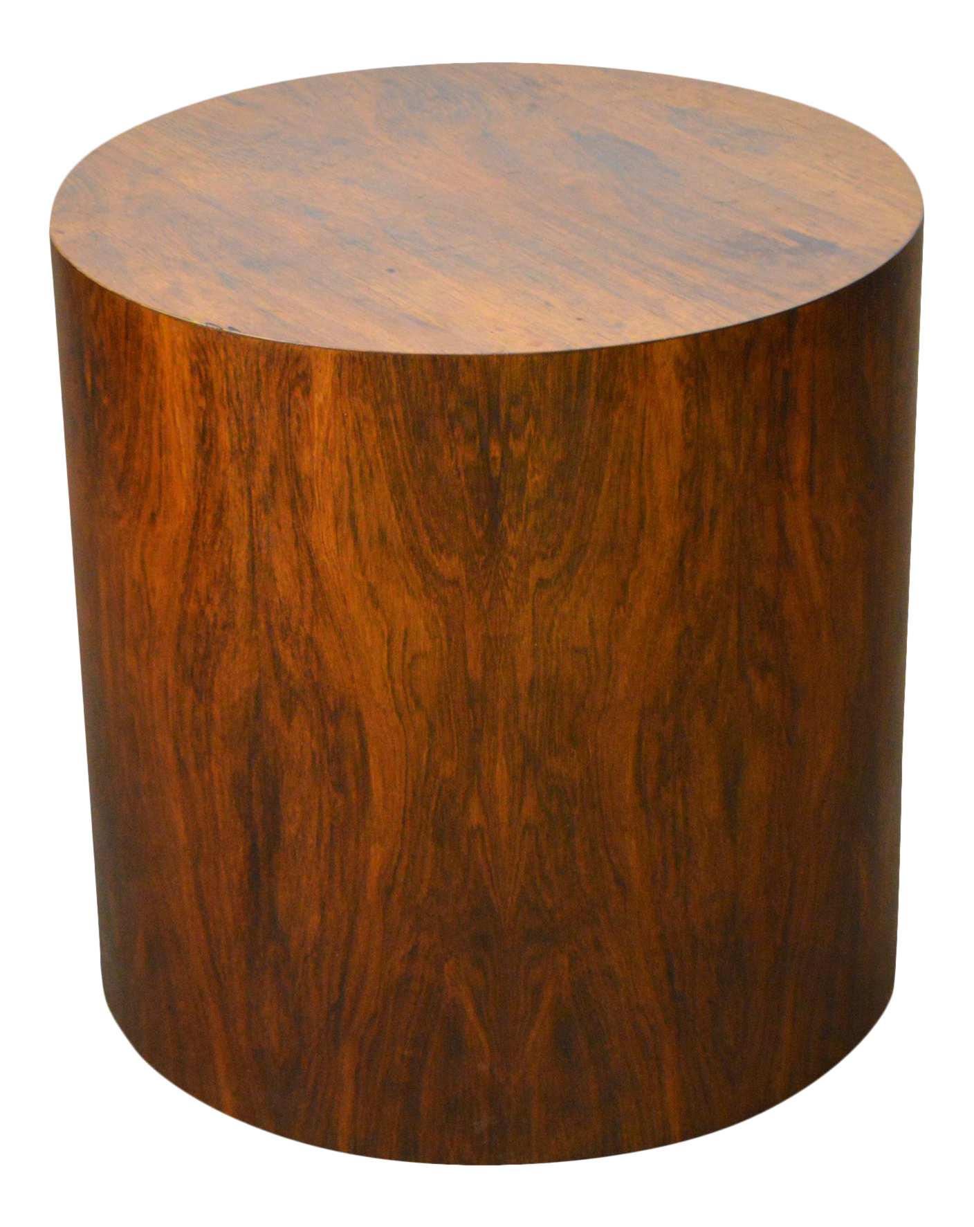 small round black end table probably super awesome drum tables milo baughman mid century modern rosewood cylinder side wood chairish drawer accent oval patio cover concrete top