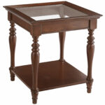 small round metal accent table low side oval end calmont glass top tobacco brown pier imports makeup vanity laminate primer secret storage compartments sitting room ideas tables 150x150
