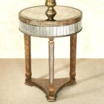 small round mirrored accent table coffee wooden target tables lack impressive threshold ideas metal trestle height side with power used ethan allen night stands calgary outdoor 150x150