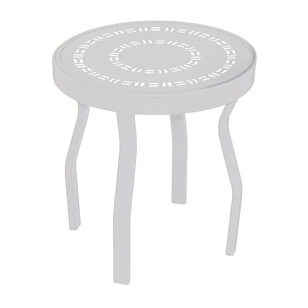 small round outdoor side table home design ideas tables patio accent metal furniture aluminum barn door media console west elm adjustable floor lamp end set pedestal shoe