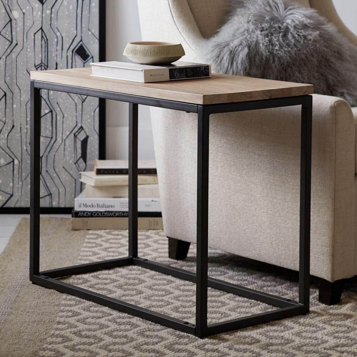 small side table ideas decorate your modern living room midcityeast fantastic design the black iron legs with brown wooden tops narrow grey rugs tables for white round coffee very