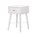 small side table white accent with drawer mdf wood for living room modern tables plans shabby chic chairs vita lampen gray brown end gateleg drop leaf pearl drum stool wooden 150x150