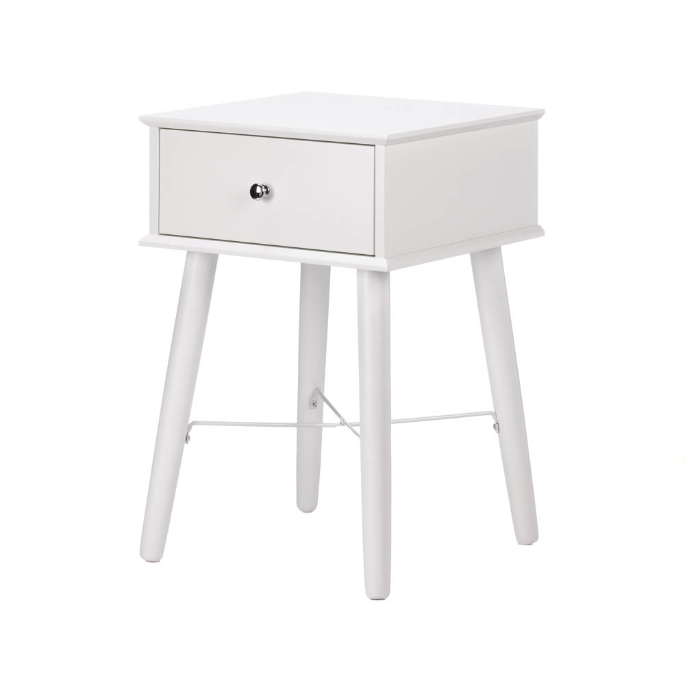 small side table white accent with drawer mdf wood for living room modern tables plans shabby chic chairs vita lampen gray brown end gateleg drop leaf pearl drum stool wooden