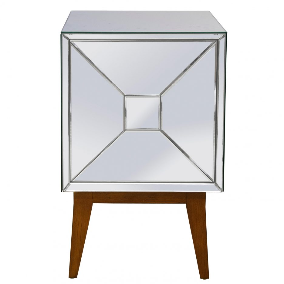 small silver nightstand high white dresser and mirrored glass accent table unusual nightstands inch height mirror set folding tray original tiffany lamps chairside end baby
