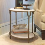 small table tables end side gold hammered accent limited production design stock elegant white stone iron base finish inches partner console coffee with glass tops make your own 150x150