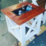 small table with built cooler rustic end outdoor side mejias dopecreations console storage pier tables hall accent low furniture vintage lucite magnussen pinebrook glass drawers 150x150
